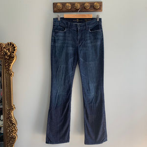 7 FAM High Waist Boot Cut Dark Wash Stretch Jeans